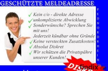 Geschützte Meldeadresse in Deutschland