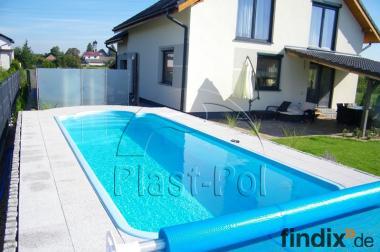 Gfk Schwimmbecken 5,00x3,00x1,50 Pool,Einbaubecken,komplett Set