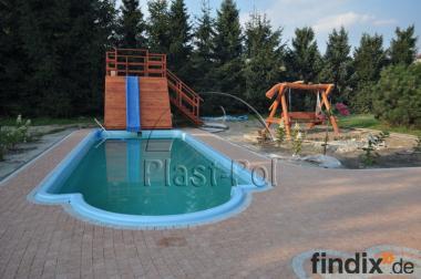 Gfk Schwimmbecken Swimming Pool 8,00 x3,20 Ausverkauf Set