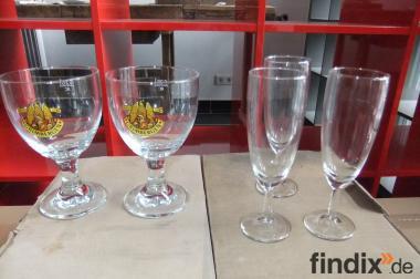Gläser, Sektgläser und Weihnachtstassen