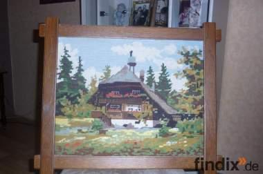 Gobelin Bild handgearbeitet 45x45