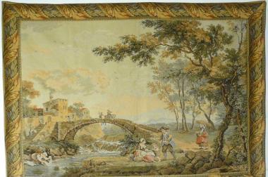 Gobelin Bildteppich am Fluss (G033)