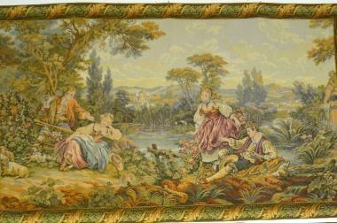 Gobelin Bildteppich Paare am See (G023)