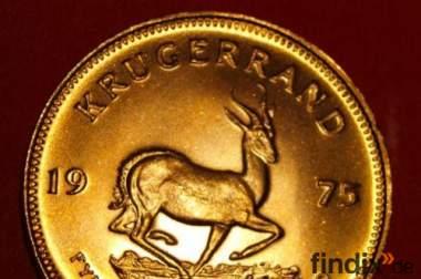 Gold, Goldmünzen ,Krügerrand ,Goldbarren