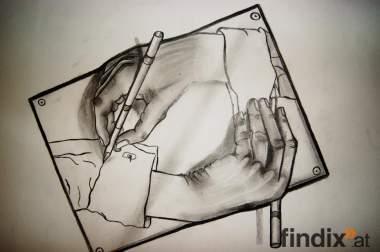 """Grafik - """"Hand nach Hand"""""""