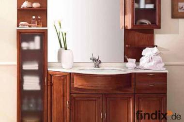 Großer Badschrank Alpha mit Marmor-Top