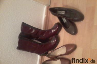 großes Damen Schuh Paket  6 Paar neuwertig  Gr 40...3x Stiefel