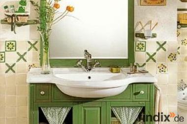 Grünes Badezimmermöbel