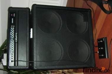 """Halfstack Gitarrenbox  4 x 12er mit Topteil / Verstärker """"Crate"""""""