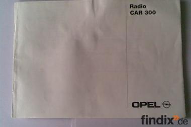 Handbuch für Opel Autoradio CAR 300 Stand 1998