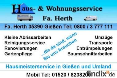 Hausmeisterservice in Gießen und Umland. Tel.:0800 / 3 777 111