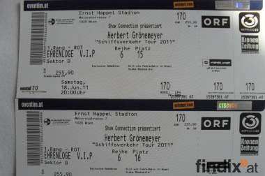 Herbert Grönemeyer VIP Tickets Ehrenloge Wien Ernst Happel