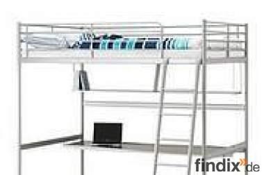 hochbett ikea mit schreibtisch drehstuhl 283370. Black Bedroom Furniture Sets. Home Design Ideas