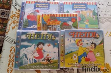 Hörspiele von Heidi und Benjamin Blümchen auf 5 CD,s