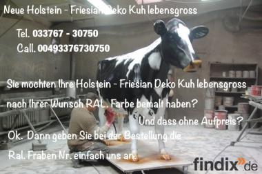 Holen Sie sich das neue Holstein - Friesian Deko Kuh Modell