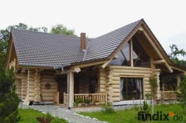 Holzhaus aus Rundbohlen Karelische Kiefer