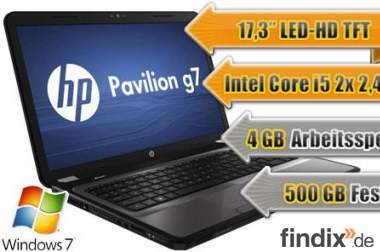 HP g7 Notebook ab 1€
