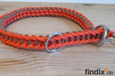 Hundehalsband, handgeknotet mit Stopper
