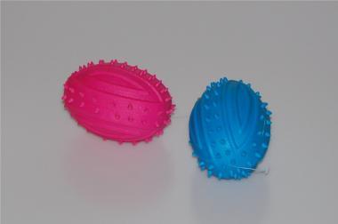 Hundespielzeug - Gummi Rugby Ball Pink oder Blau um 5,00€