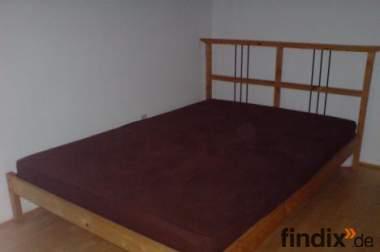 bett dalselv von ikea 140x200 mit rollrost und matratze. Black Bedroom Furniture Sets. Home Design Ideas