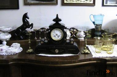 kaminuhr antik aus schwerem olivin 1880 bei wernesgrüner trödler