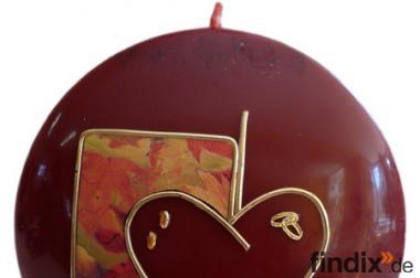 Kerzen Diskus - goldene Hochzeit