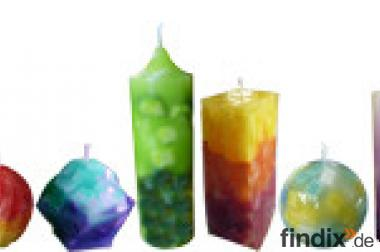 Kerzen selber machen, online Würfeltechnik > Wachswürfel Schicht