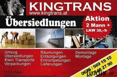 KINGTRANS.at Aktion - Entrümpelungen & Räumungen 2Mann + LKW 25€