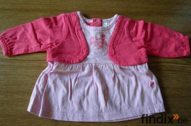 Kleid für die ganz kleinen Gr.56 rosa/rot