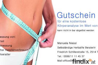 kostenlose Körperanalyse im Wert von € 50,-