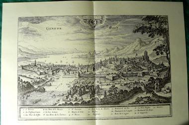 Kupferstich alt Genf 60x43 (B001)