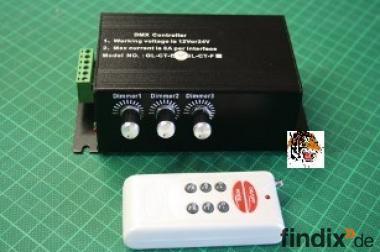 LED-DMX-Controller mit Funk-Fernbedienung bis 432 Watt