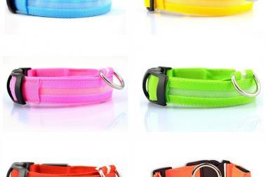 LED Hundehalsbänder in 6 Neon Farben - 5,00€ pro Stück