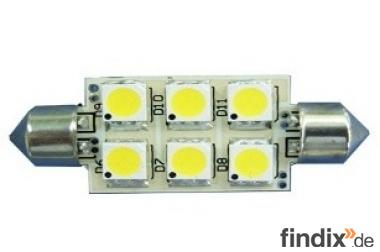 LED - Soffitte 12 Volt - 120 Lumen 38 mm lang - weiß