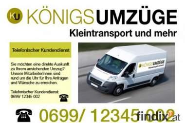 Lieferung, Lagerung -Königsumzüge.at - Kleintransporte und mehr
