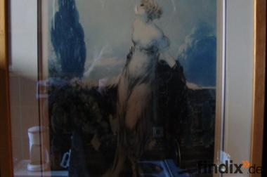 Louis Icart Radierung  Art Deco