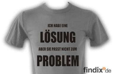 Lustige Sprüche T Shirts online drucken