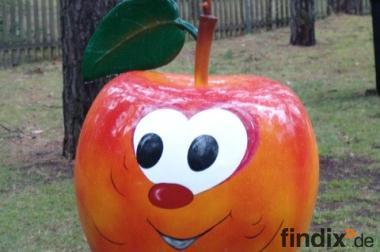 Lustiger Deko Apfel mit Werbetrafel