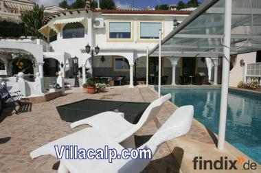 Luxus Villa mit beheitzter Pool Calpe Spanien