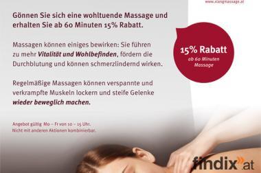Massage Verwöhnangebot