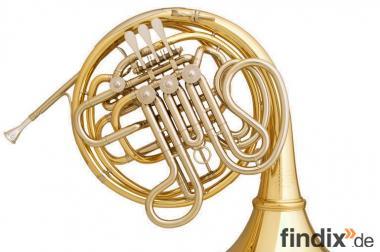 Meister Hans Hoyer 6801 GA - L Heritage Doppelhorn, Goldmessing
