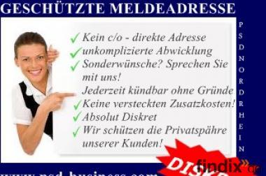 Meldeadresse mieten - Info PSD Business
