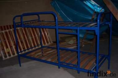 Metall-Etagenbett (blau) günstig zu verkaufen VB!