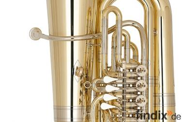 Miraphone 496 Hagen 5/4 Tuba in BBb aus Goldmessing. Neu