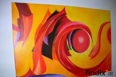 Moderne Ölmalerei Titel Farbenspiel