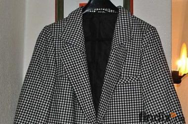 Moderner Damen- Blazer Größe 42 schwarz weiss