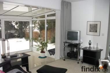 Möblierte 60qm-Wohnung in Essen mit Wintergarten, Terrasse+Loggia