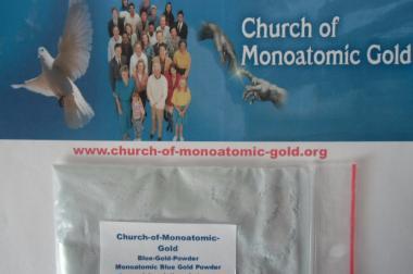 Monoatomisches Gold Powder Blue (10 gram)