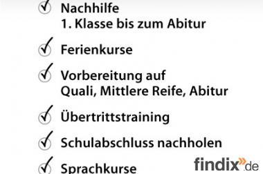 Nachhilfe - Lernförderung - Prüfungsvorbereitung in München
