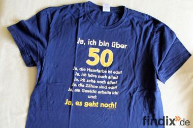 Nettes blaues Ich bin über 50er T-Shirt